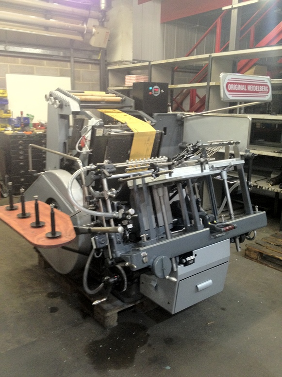 Heidelberg GTP Hot Foil Stamping Platen rebuilt to ZENITH specification.