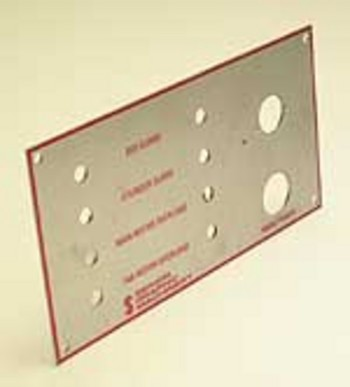 CONTROL PANEL OPERATION PLATE